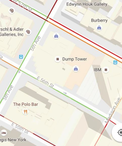 story news trump tower becomes dump google maps